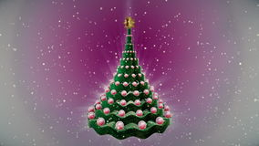 Animación del árbol de navidad almacen de metraje de vídeo