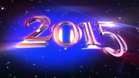 Animación 2015 del Año Nuevo ilustración del vector