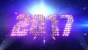 Animación 2017 del Año Nuevo ilustración del vector