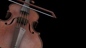 Animación del CG con el violín del canal alfa libre illustration
