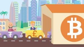 Animación del concepto de Bitcoin almacen de video