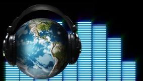 Animación del concepto de la música del mundo ilustración del vector