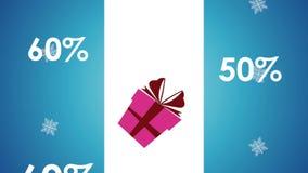 Animación del concepto HD de la venta de la Navidad stock de ilustración
