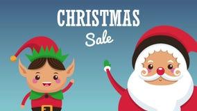 Animación del concepto HD de la venta de la Navidad libre illustration