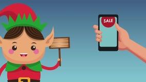 Animación del concepto HD de la venta de la Navidad ilustración del vector