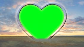 Animación del corazón - capítulo de la foto - amor, saludos de día de San Valentín - pantalla verde libre illustration