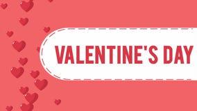 Animación del corazón de la mosca para el saludo del día de San Valentín
