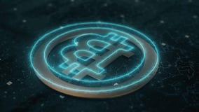 Animación del cryptocurrency de Bitcoin libre illustration