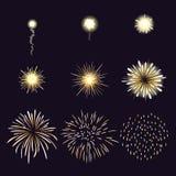 Animación del efecto del fuego artificial en la historieta cómica Fotografía de archivo libre de regalías