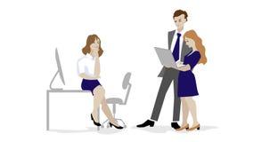 Animación del equipo del negocio que trabaja junto