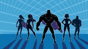 Animación del equipo 2 del super héroe libre illustration