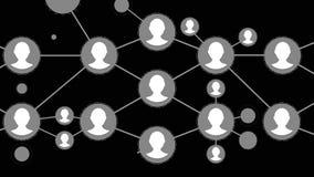 Animación del esquema de márketing de la red Concepto en línea del márketing Establecimiento de una red, medio social, SNS, comun libre illustration