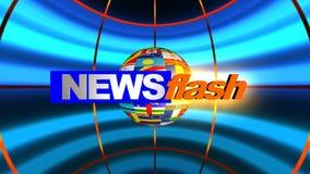 Animación del flash de noticias almacen de video