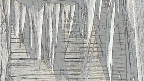 Animación del fondo de tablones de madera viejos Efectos del bosquejo almacen de video