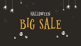 Animación del fondo grande de la venta de Halloween stock de ilustración