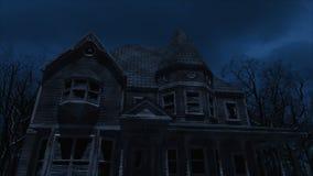 Animación del fondo del movimiento de la casa encantada metrajes