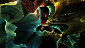 Animación del fractal stock de ilustración