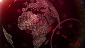 Animación del globo con los continentes y luz en el movimiento, lazo HD 1080p ilustración del vector