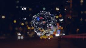 Animación del globo de torneado con differencies del tiempo ilustración del vector