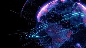 Animación del globo del mundo de la tierra ilustración del vector