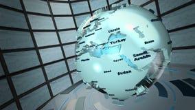 Animación del lazo del mundo de la difusión almacen de video