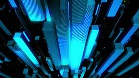 Animación del lazo del fondo del vídeo del objeto 3D ilustración del vector