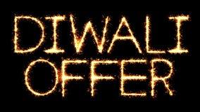 Animación del lazo del fuego artificial de las chispas del brillo de la bengala del texto de la oferta de Diwali libre illustration
