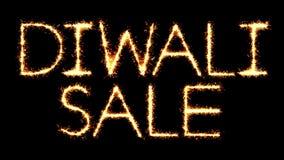 Animación del lazo del fuego artificial de las chispas del brillo de la bengala del texto de la venta de Diwali stock de ilustración
