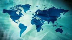 Animación del mapa del World Travel, fondo abstracto de la introducción stock de ilustración