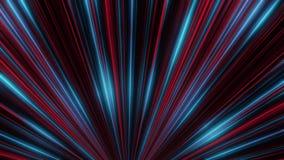 Animación del movimiento de neón colorido de los rayos del igual en túnel de neón abstracto en el fondo oscuro Abstracción colori libre illustration