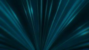 Animación del movimiento de neón de los rayos de la turquesa colorida igual en túnel de neón abstracto en el fondo oscuro colorid stock de ilustración