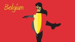 Animación 2014 del mundial de Bélgica con el jugador stock de ilustración