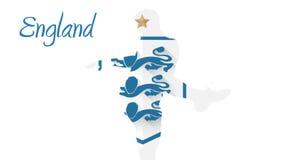 Animación 2014 del mundial de Inglaterra con el jugador libre illustration