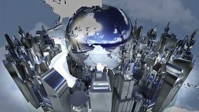 Animación del mundo de la difusión stock de ilustración
