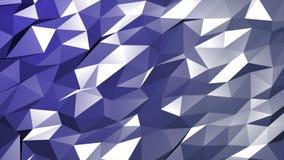 Animación del polígono en fondo purpúreo claro del movimiento stock de ilustración