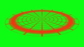 Animación del radar - pantalla verde ilustración del vector