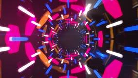 animación del túnel del extracto 3d almacen de video