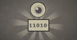 animación del vídeo de la historieta del vintage de la vigilancia del estado de Internet 4k