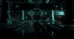 Animación dentro de una nave espacial futurista/de la ciencia ficción