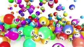 Animación descendente de las bolas de la loteria/del bingo libre illustration