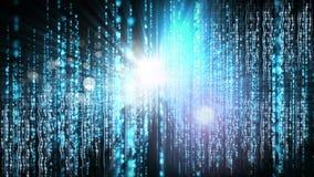 Animación digital conceptual que muestra tecnología del código binario almacen de video