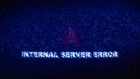 Animación digital del error del efecto de la distorsión de la interferencia de la contracción nerviosa del ruido de servidor d ilustración del vector