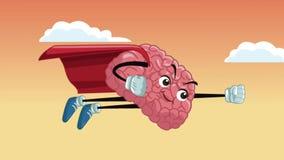 Animación divertida de la historieta HD del cerebro