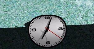 Animación doblada del lapso de tiempo de reloj de la cara