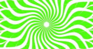 Animación en un fondo verde Fondo verde para el chromakey Elemento de transición video de la animación bajo la forma de a stock de ilustración
