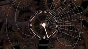 Animación espiral atómica del reloj stock de ilustración