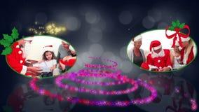 Animación espiral de la Navidad almacen de video