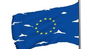 Animación euro de la bandera 3d almacen de video