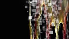 Animación fantástica con el objeto de la onda en el movimiento en el fondo cuadrado, 4096x2304 lazo 4K libre illustration
