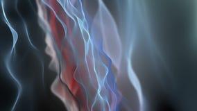 Animación fantástica con el objeto de la onda en la cámara lenta, 4096x2304 lazo 4K
